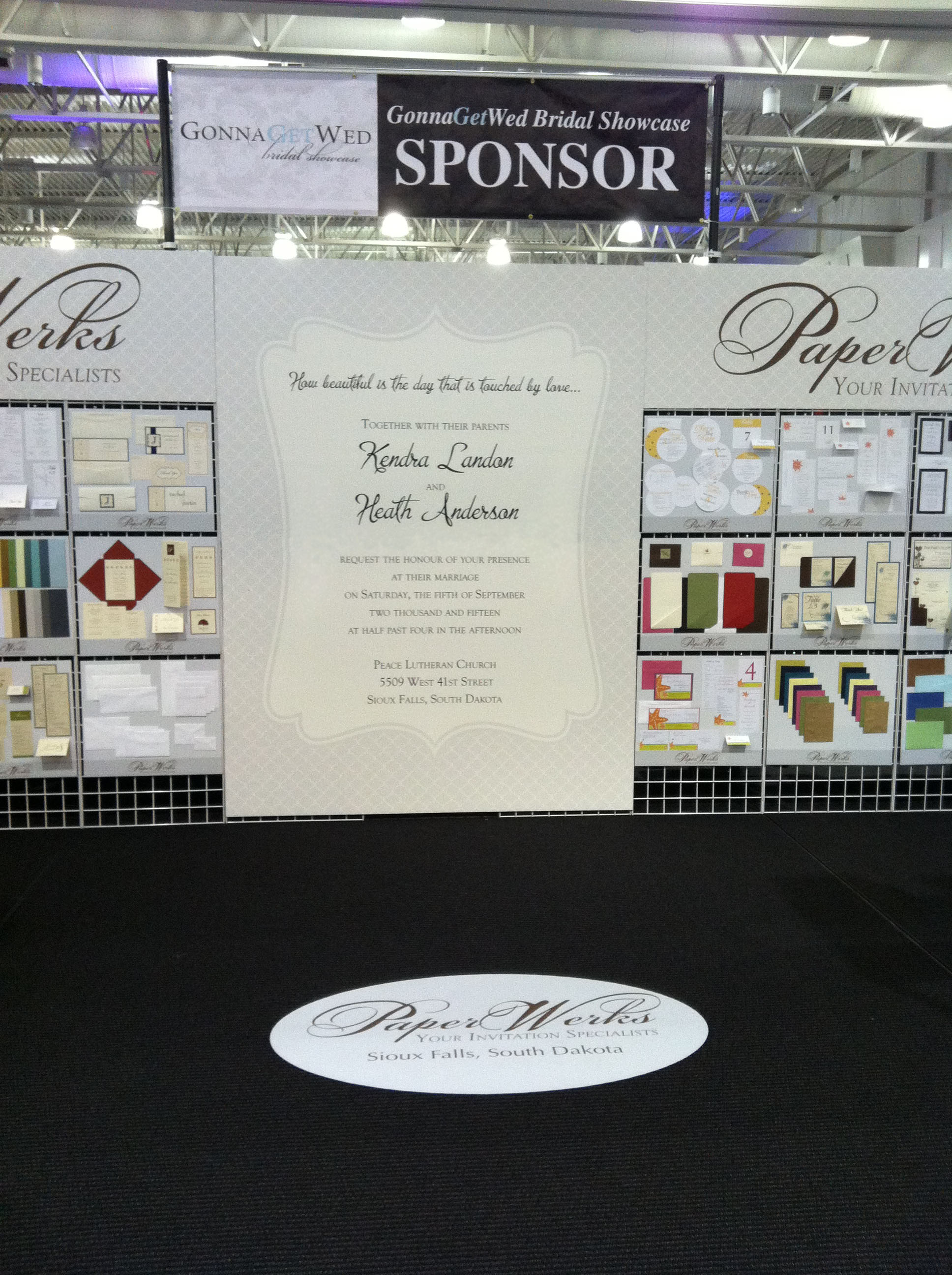 Gonnagetwed bridal showcase new booth display paper inspiration paperwerks bridal show stopboris Choice Image